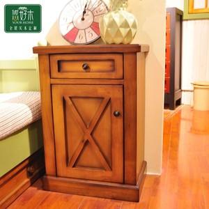 北欧床头柜实木简约现代卧室迷你小柜子储物柜简易收纳边柜ins风