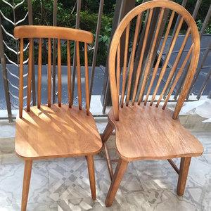 北欧餐椅现代简约家用实木椅子餐厅酒店办公会议椅子懒人凳子靠背